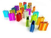 Bolsas de colores — Foto de Stock