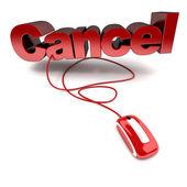 Online cancel — Stock Photo
