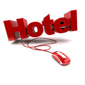 Online Hotel — Stock Photo