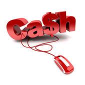 Online cash — Stockfoto