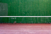 Old tennis backboard — Stock Photo