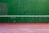 Old tennis backboard — Stock Photo