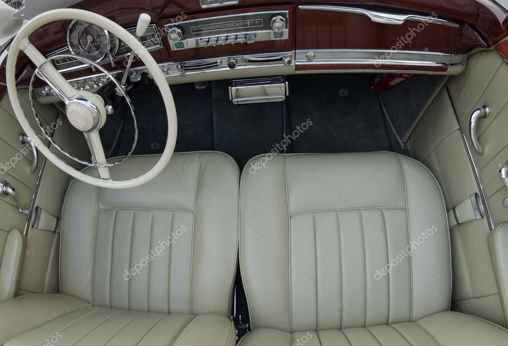 elegant old car interior stock photo franckito 3515163. Black Bedroom Furniture Sets. Home Design Ideas