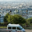 French police van in Montmartre — Stock Photo