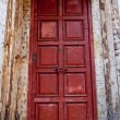 Stock Photo: Old red door