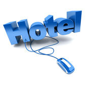 Hotel online blue — Stock Photo