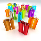3D rendering of colourful shopping bags — Stock Photo