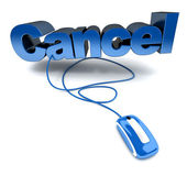 Online cancel in blue — Stock Photo