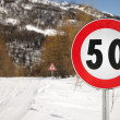 Speed limit — Stock Photo