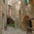 Stock Photo: Medieval town in Liguria, Italy