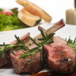Lamb Chop and Salad — Stockfoto #3923071