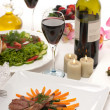 Lamb Chops and Wine — Stock Photo #3923085