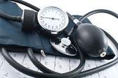 Manometer, stethoscope — Stock Photo