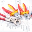 Assorted Tools on diagram — Stock Photo #3911648