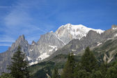 Mont Blanc and Aiguille Noire — Photo