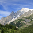 Mont Blanc and Aiguille Noire — Stock Photo