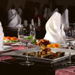 Table Served In The Restaurant - Stock Photo