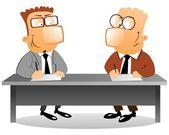 Geschäftspartner, die am tisch — Stockfoto
