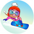 Royalty-Free Stock Photo: Snowboarder girl