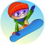 Snowboarder icon — Stock Photo