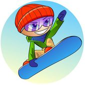 Ikona snowboardzista — Zdjęcie stockowe