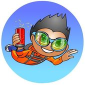 Skydiver with a drink. — Stock Photo