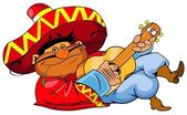 Mexican man playing guitar — Stock Photo