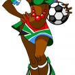 African woman with a ball - football fan. - Photo