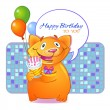 Royalty-Free Stock Vector Image: Birthday Cat