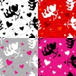 Seamless Vector Valentine pattern - Stok Vektr
