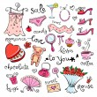 Gift Ideas for girl - Stock Vector