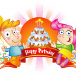 Royalty-Free Stock Vektorfiler: Happy Birthday