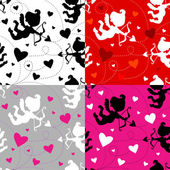 Seamless Vector Valentine pattern — Vetorial Stock