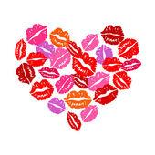 Hart van kussen — Stockvector