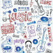 Stock Vector: Sketchy music illustrations