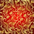 Royalty-Free Stock Vector Image: Vintage red&gold background