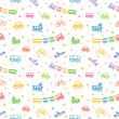 Seamless pattern toy-transport — Stockvectorbeeld