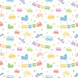 Seamless pattern toy-transport — Imagen vectorial