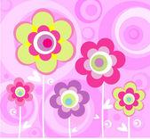 日本粉色饰品 — 图库矢量图片