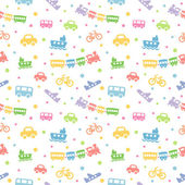 Seamless pattern toy-transport — Stock Vector