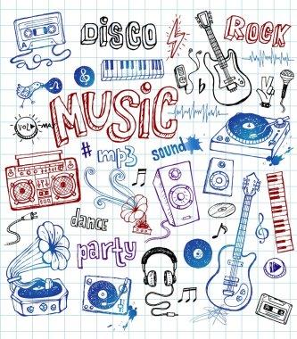 Sketchy music illustrations