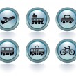 TYPES OF TRANSPORT — Image vectorielle