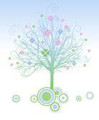 современный дизайном дерево — Cтоковый вектор
