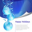 Christmas business greeting card — Stock vektor