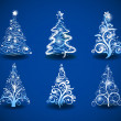 Christmas trees. - Stock Vector