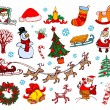 Royalty-Free Stock Immagine Vettoriale: CHRISTMAS ORNAMENTS
