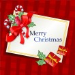 Royalty-Free Stock Векторное изображение: CHRISTMAS TRADITIONAL GREETING CARD