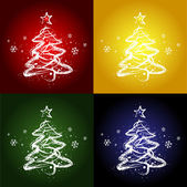 FOUR CHRISTMAS TREES — Stock Vector