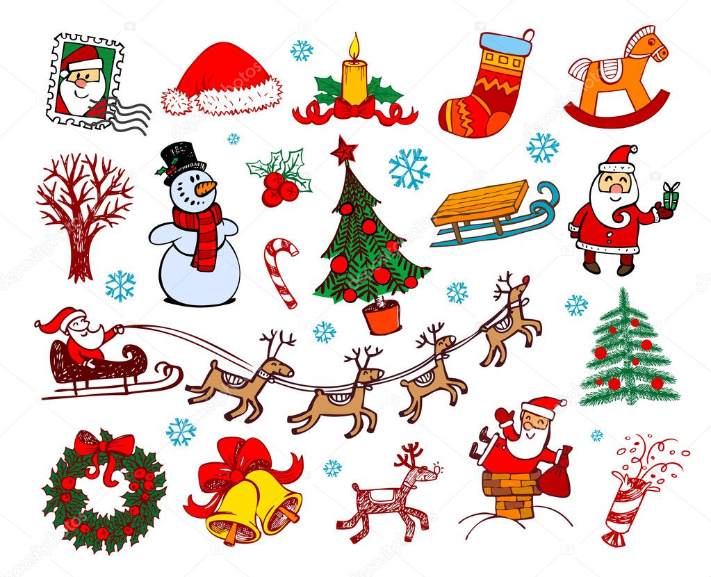 Set of vector Christmas ornaments  Stock Vector #2834863