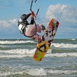 Kiteboarding. - Foto Stock